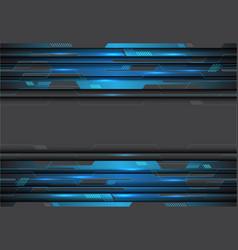 blue metallic circuit on grey design modern vector image
