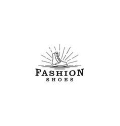 Boot logo shoes - a simple classic logo model vector