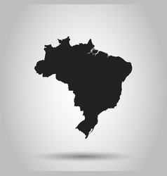 brazil map black icon on white background vector image