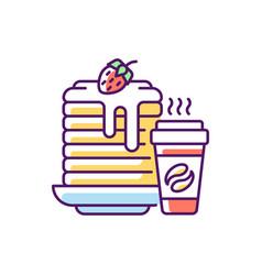 Breakfast meals rgb color icon vector