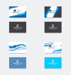 Business card design template vector