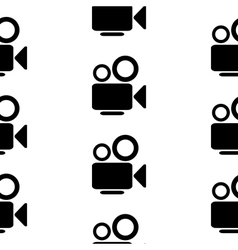 Camera symbol seamless pattern vector image