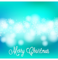 Card with Chrismas lights and snow vector