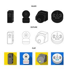 Cctv and camera sign set vector