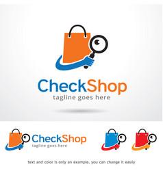 Check shop logo template vector