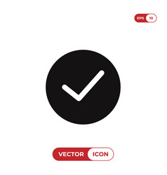 checked button icon vector image