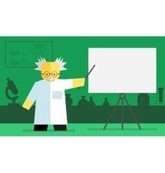 Chemistry teacher vector