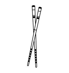 chopstick japanese isolated icon vector image