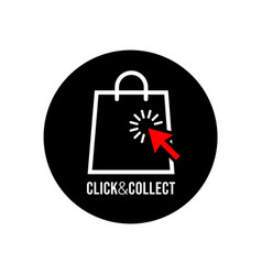 Click and collect logo vector