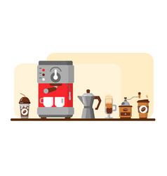 coffee equipment banner vector image