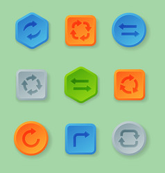 colorful website turn buttons design vector image