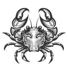 Crab engraving vector