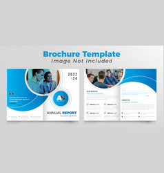Creative bifold business brochure design template vector