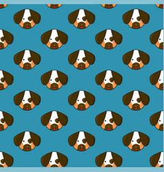 dog seamless on indigo blue background vector image