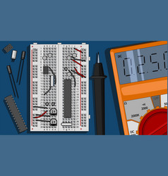 Electronics components kit vector