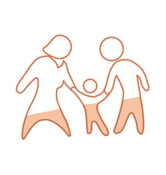 family pictogram symbol vector image