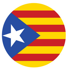 flag of catalonia catalonian flag autonomous vector image