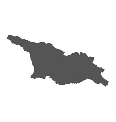 Georgia map black icon on white background vector