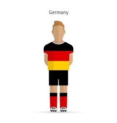 Germany football player Soccer uniform vector
