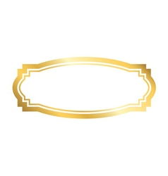 Gold frame Beautiful golden design vector image