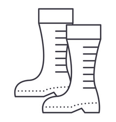 gumboots line icon sign on vector image