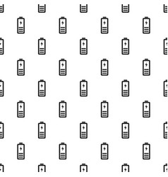 Half battery energy pattern seamless vector