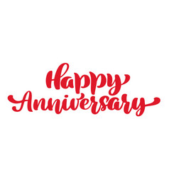 happy anniversary greeting card vintage vector image