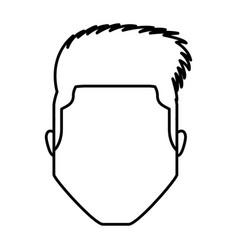 head young man icon vector image