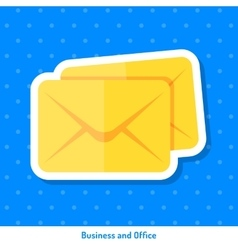 Icon of envelopes vector