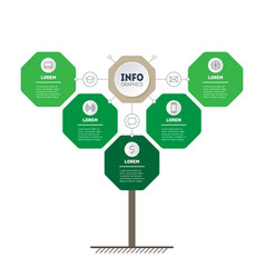 infographic green technology education process vector image