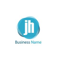 Initial letter jh logo template design vector