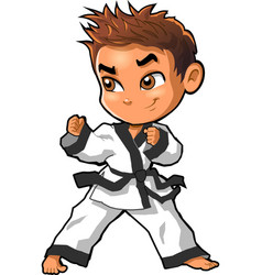 Karate martial arts tae kwon do dojo clipart vector