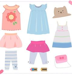 kid dress vector image vector image