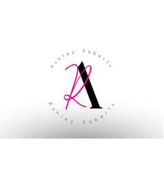 Letter ar signature minimalistic monogram logo vector