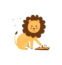 Lion Playing Chess vector