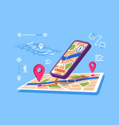 location maps online application vector image