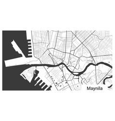 Map manila city republic philippines vector