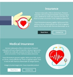 Medical and Health Insurance vector image