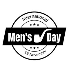 mens day icon simple style vector image