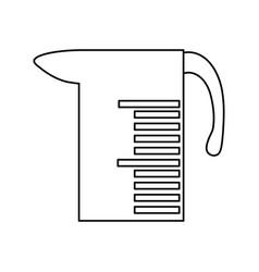 Meter cup icon vector