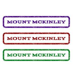 Mount mckinley watermark stamp vector