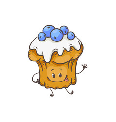 muffin cartoon character vector image