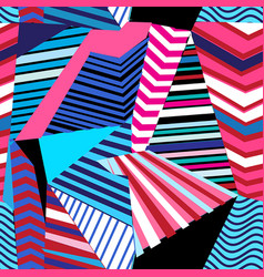 Multicolored geometric pattern vector