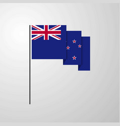 New zealand waving flag creative background vector