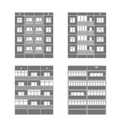 Panel houses set2 vector