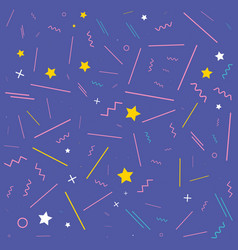 pattern of stars and geometric figures vector image