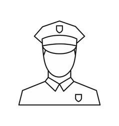 Policeman icon outline style vector image