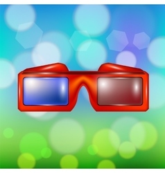 Red Glasses for Watching Movies vector