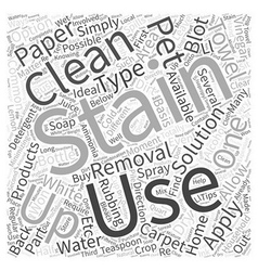 Removing Pet Stains Word Cloud Concept vector