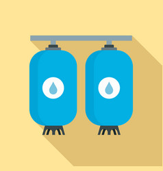Reserve water bottle icon flat style vector